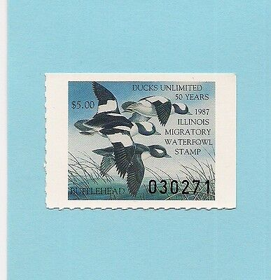 1987 Illinois  Duck Stamp - Mint Never Hinged