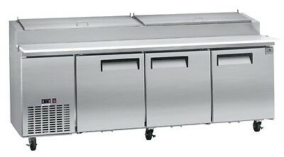 Pizza Prep Table, three-section, 24 CuFt capacity, Kelvinator KCPT92.12
