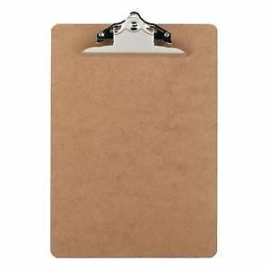Wooden A4 Wood Clipboard / Clip Board Masonite With Strong Chrome Clip