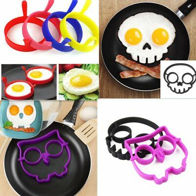 Breakfast Fried Egg Mold Silicone Pancake Egg Ring Shaper Funny Cooking Tool FSG