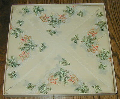 Old German Crepe Paper Christmas Napkins, Still In Box
