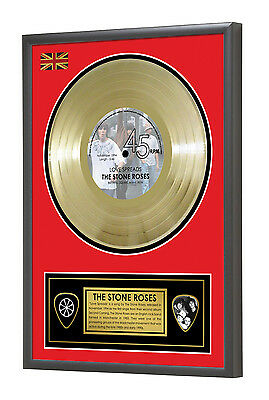 Stone Roses Love Spreads Second Coming Framed Gold Disc Display Vinyl (45rpm)