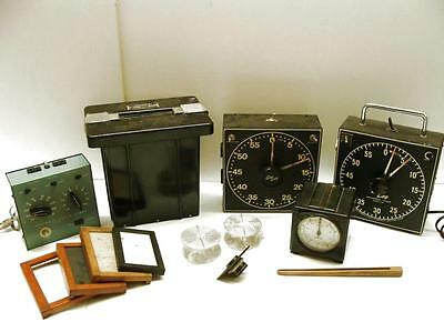 Morse GraLab Standard Dark Room Equipment Bundle Timers Lens Film Processing