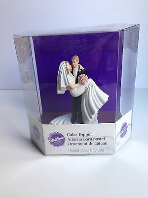 Wilton Threshold of Happiness Wedding Cake Topper Groom Carrying Bride NEW!