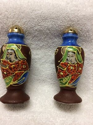 Vintage Deco Porcelain Salt Pepper Shakers Japan