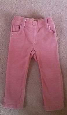 Girls pink cord trousers. Sz 12-18 months. Next. Fab condition.