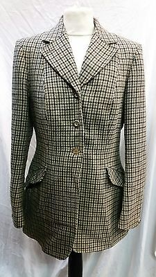 "Womens Harry Hall Tweed Hacking / Riding Jacket Size 38"" Chest Approx"