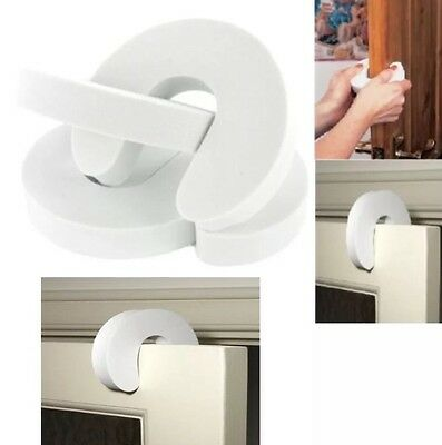 4 Foam WHITE DOOR GUARD Finger Protector Jammer Stopper Baby Child Kids Safety