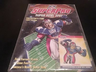 NFL Superpro Special Edition #1 (Sep 1991, Marvel) with Official NFL Card