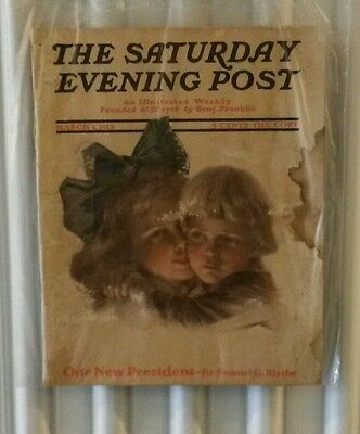 The Saturday Evening Post Magazine March 1,1913 Antique Art Collectible