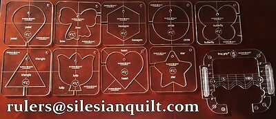 Free Motion Quilting Grip 5 with ruler and 9 TEMPLATES