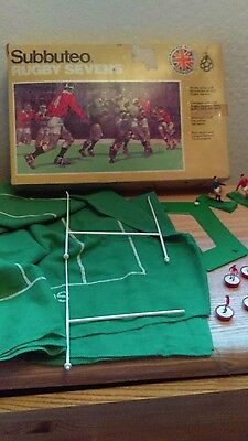 subbuteo rugby sevens set incomplete used for spares