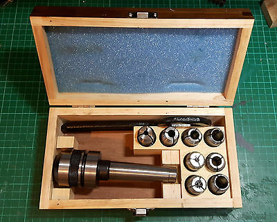 Vertex Posilock Collet System MT3 with 4 Metric & 4 Imperial Collets, boxed