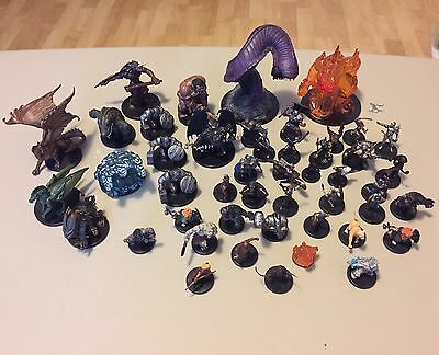 Lot Of 47 Mixed Figures Dungeons Dragons 2006 Miniature Game D&D