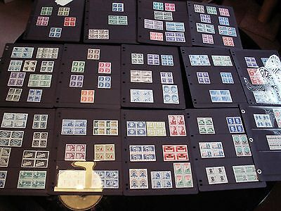 Canada - Large Mnh-Vf Block Collection In Binder From King George -70's + Better