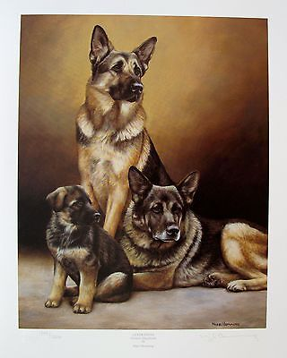 NIGEL HEMMING GERMAN SHEPHERD DOGS Hand Signed Limited Edition Lithograph