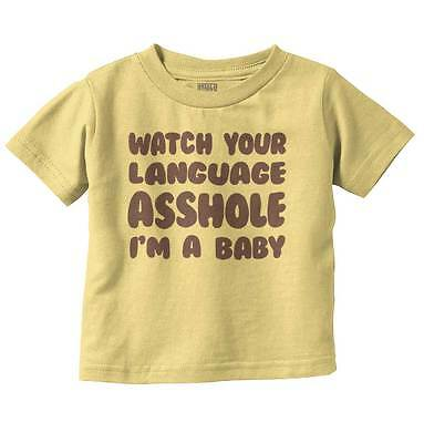 Language New Parents Baby Shower Gifts Funny Saying Baby Toddler Infant  T