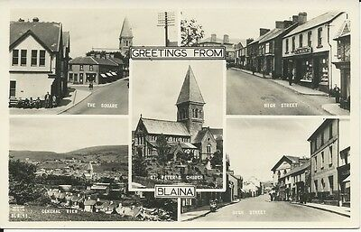 Vintage multi-view RP postcard of Blaina, Monmouthshire
