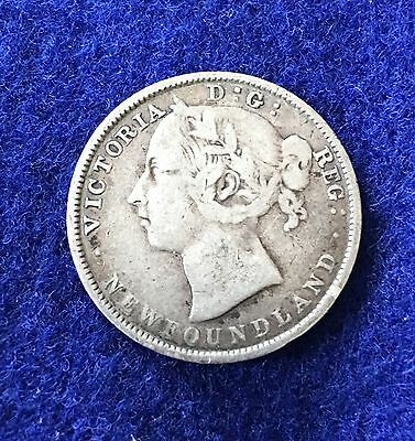 1899 Newfoundland 20 Cent Piece Silver Coin in FINE Condition
