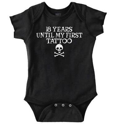 18 Years First Tattoo Funny Baby Clothes Cute Gift Sarcastic Romper Bodysuit