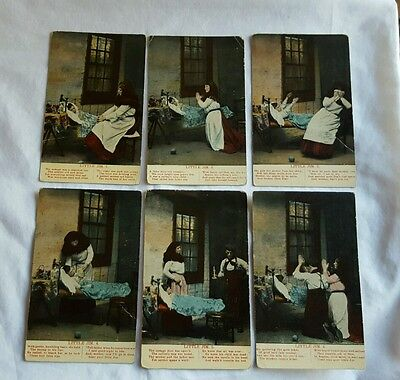 Set Of 6 Song Postcards Like Bamforth cards Little Jim Unknown Artist
