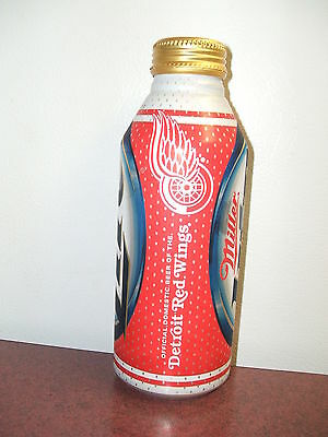 collectors 2012 841822 miller lite detroit redwing aluminum beer can cabottle