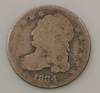 1834 Capped Bust Silver Dime *G24