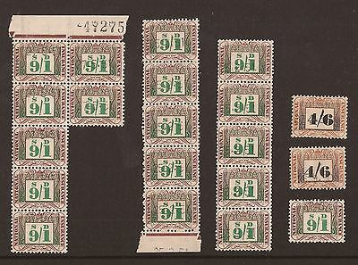 Collection Of Old National Insurance Stamps O/gum 9/1 & 4/6