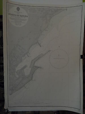 CM1433 Found in a treasure chest! Vintage marine chart Italy