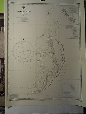 CM1881 Found in a treasure chest! Vintage marine chart Indian Ocean
