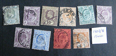 MALAY STRAITS Fine used stamps