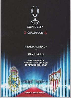 Orig.PRG  Super Cup 2014  FINAL  in Cardiff   REAL MADRID - SEVILLA FC  !!  RARE