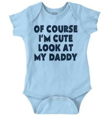 6faa5d61 Im Cute Dad Funny Shirt Cool Baby Clothes Sarcastic Gift Edgy Romper  Bodysuit