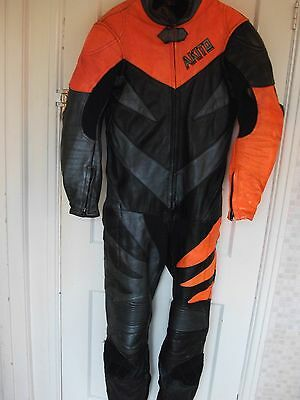 Akito Leather One Piece Motorcycle Motorbike Suit Size 38