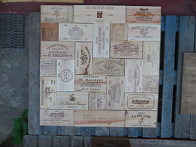 Estampes façades caisses vin Bordeaux dimension 115cm X 115cm wine box panels