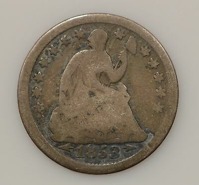 1853-P Seated Liberty Silver Half Dime *307