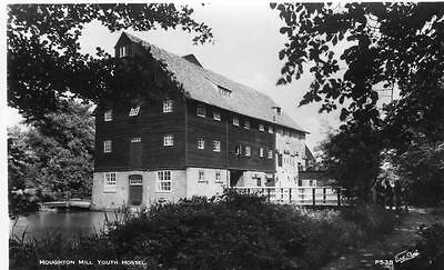 Houghton Mill Nr St Ives Youth Hostel unused RP old pc Walter Scott