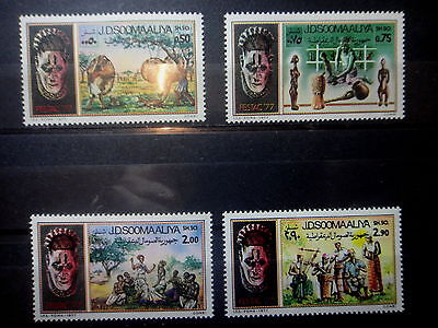 SOMALIA 1977 MASK DANCER AFRICAN FESTIVAL Stamps SET - MNH -VF - r3b904
