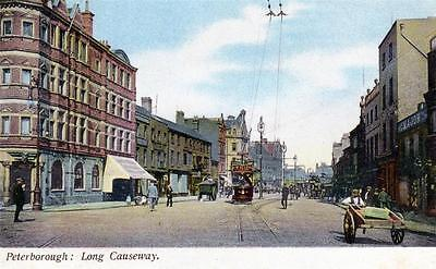 Peterborough Long Causeway  used old postcard by T&D