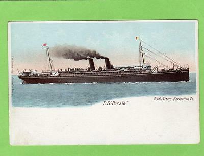 SS Persia P & O Steam Navigation Co unused early old pc ( sunk 1915 off Crete)