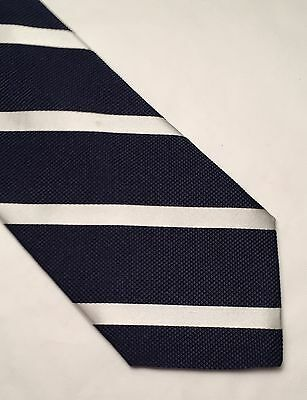 Breuer Hand Made In Italy Blue & Silver Striped Tie