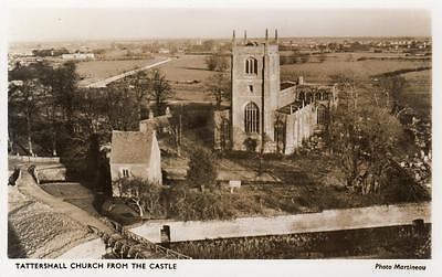 Tattershall Church from Castle Nr Coningsby unused RP pc Martineau