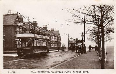 Tram Terminus Wanstead Flats Forest gate unused RP old pc WHS Kingsway