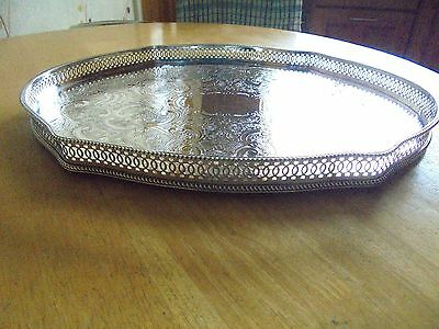 Arthur Price Silver Plated on Copper Serpentine Gallery Tray