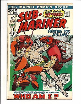 SUB-MARINER # 50 (Prince Namor, EXTRA-SPECIAL 50th ISSUE, JUNE 1972), FN