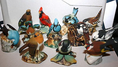lot 12 Figurines oiseaux porcelaine biscuit capodimonte ? made in Italy