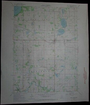 Eden Valley Minnesota Crow River Rice Lake vintage 1968 old USGS Topo chart
