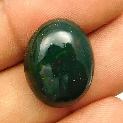 13.65 cts Natural Nice Untreated Bloodstone Gemstone Oval Shape Loose Cabochon