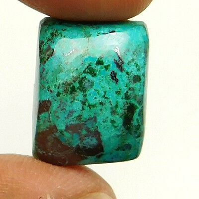 14.80 cts Natural Untreated Designer Azurite Gemstone Octagon Loose Cabochon
