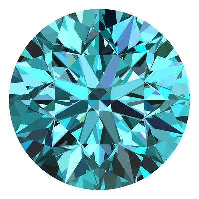 3.1 MM CERTIFIED Round Fancy Blue Color VS 100% Real Loose Natural Diamond #E